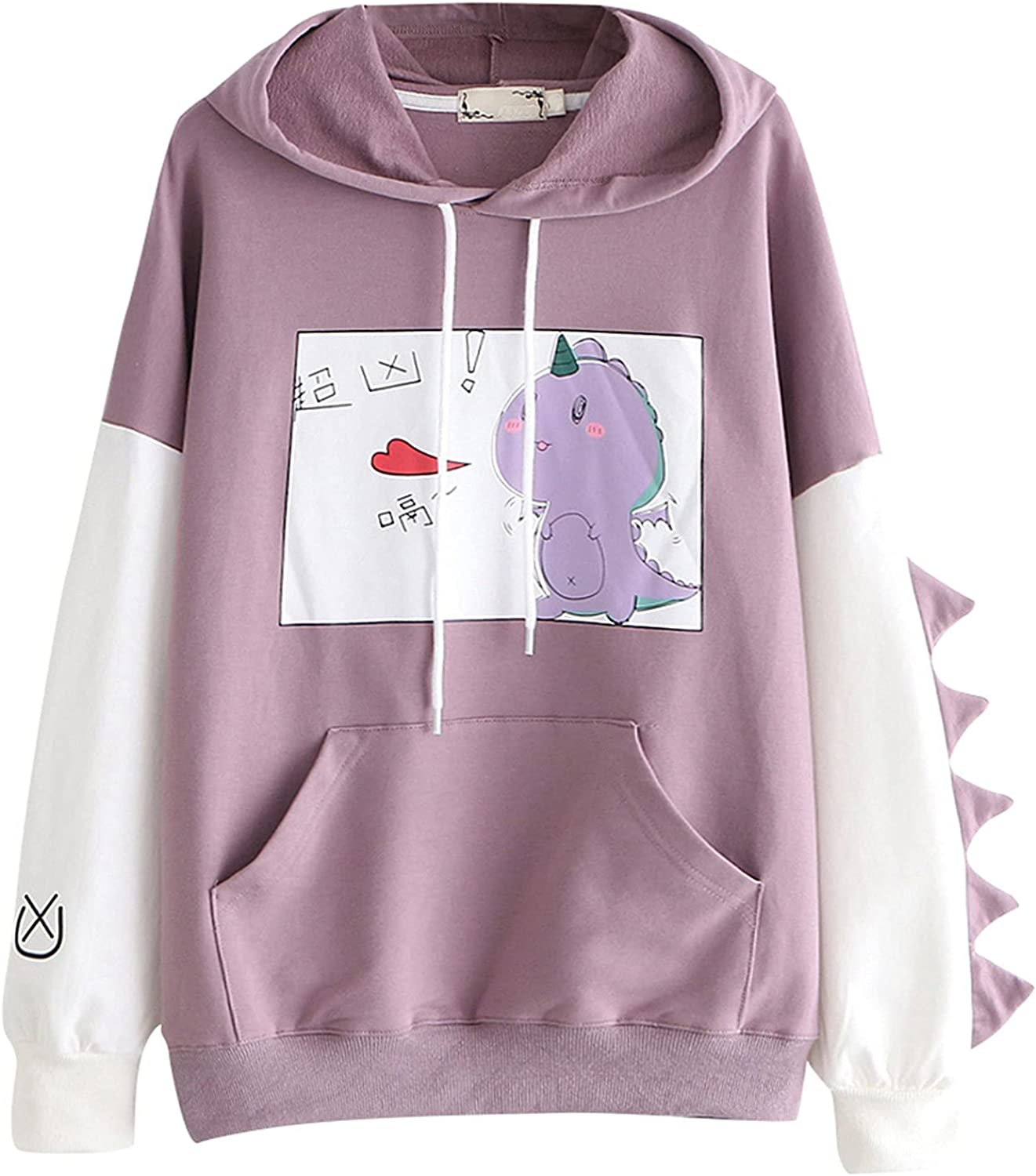 Cute Hoodies for Women with Pockets Print Max 72% OFF Dinosaur Tampa Mall Funny Trendy
