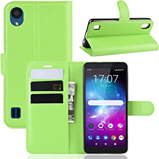 Compatible with ZTE Blade A5 2019 Case, FugouSell Premium PU Leather [Flip Stand] Slim Wallet Case Full Body Protection Cover for ZTE Blade A5 2019 (Green)