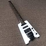 YYYSHOPP Guitars & Gear Guitarra eléctrica sin cabeza 24 Cuerpo de madera magenta Guitarra eléctrica blanca Guitarra clásica Guitarras clásicas (color: guitarra, tamaño: 30 pulgadas)