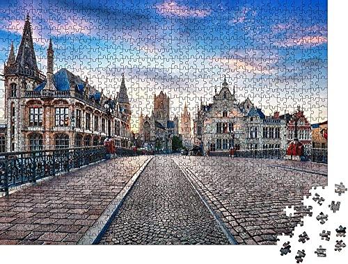 Bélgica por Día,Gante casco Antiguo Rompecabezas para Adul
