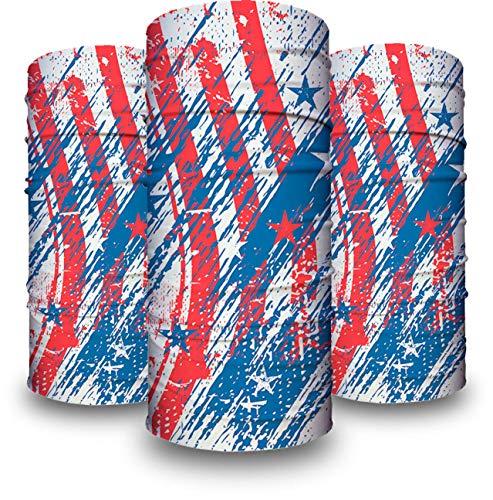 American Pride | Premium Neck Gaiter UPF 50+ 3 Face Gaiters Super Soft |Adults