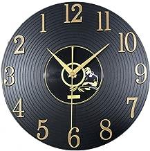 amilses Mode muet Rond Forme Quartz Horloge Murale Autocollant Horloge d/écorative /à la Maison Pendules murales