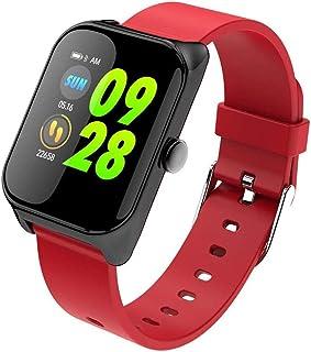 LMDH Inteligente Reloj SmartWatch con Pulsómetro Impermeable Piscina Inteligente de Pulsera con Registro de sueño podómetro Contador de calorías Paso