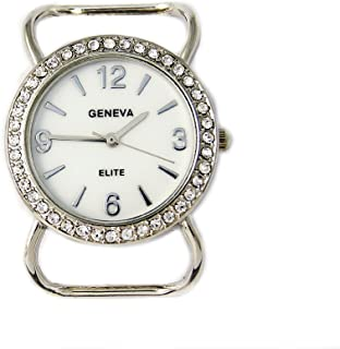 Geneva Elite Ribbon Bar Watch Face for Beading, with Crystals
