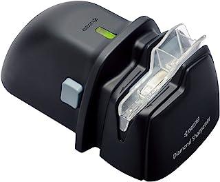 KYOCERA DS-38, Afilador Diamante para Cuchillos de Acero y cerámica, Alimentado por batería, Solo para Uso con la Mano Derecha, Negro