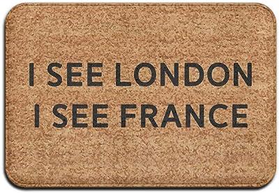 I See London I See France Fashion 15.7 X 23.6 in Absorbent Anti Slip Floor Rug Entrance Rug
