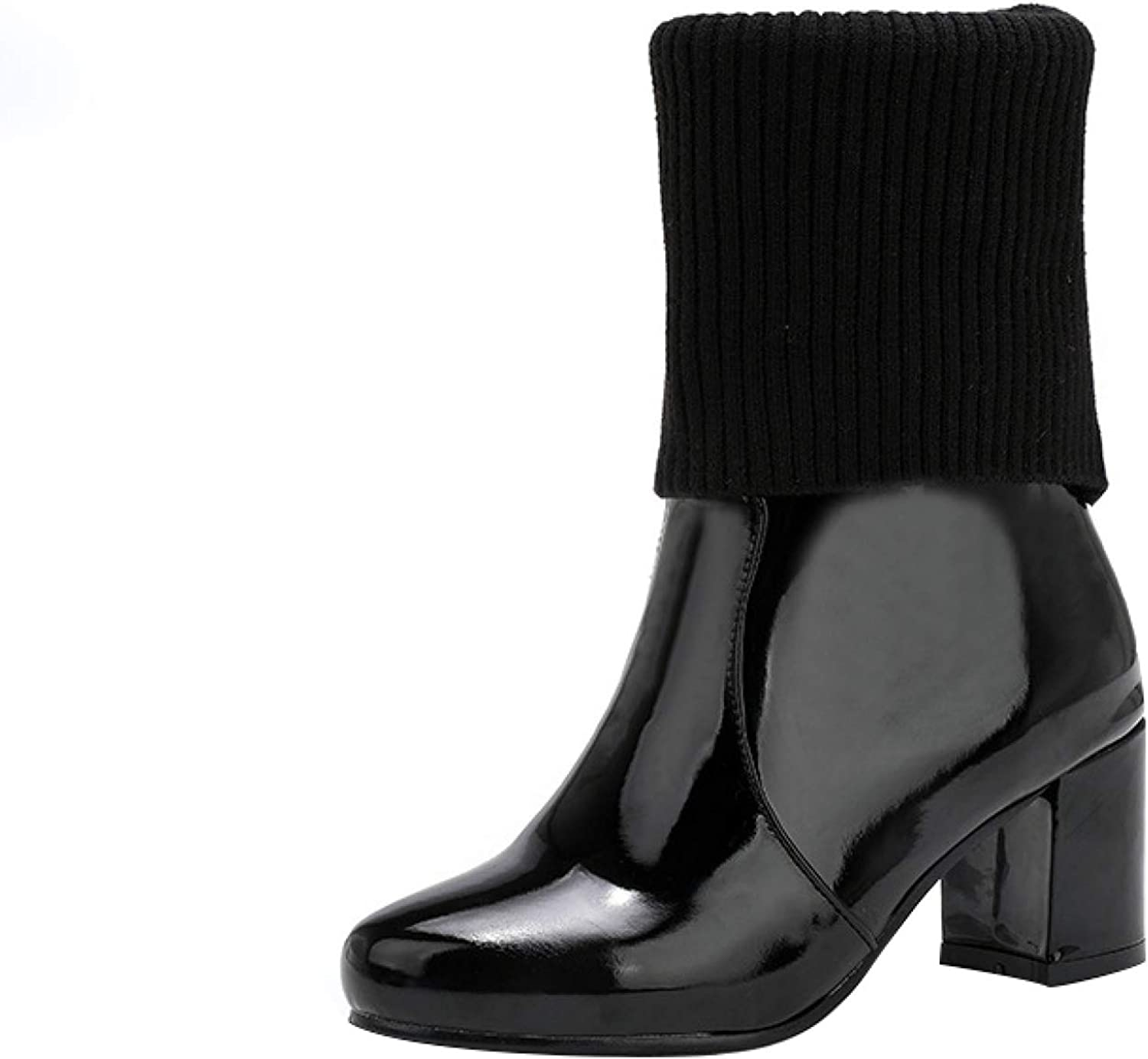 Patent Leather Booties for Women - Cl Outlet Beauty products ☆ Free Shipping Heeled Boots Women's Ankle