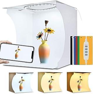 PULUZ 31cm Ring Light Photo Studio Light Box, Adjustable Portable Photography Shooting Light Tent Kit with White/Warm/soft...