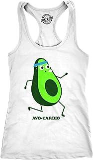 c7e253b3cb96 Womens Avocardio Tank Top Funny Running Avocado Cinco De Mayo Fitness Shirt  for Ladies White