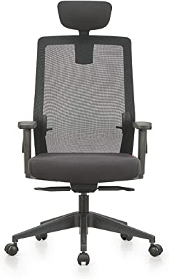 Featherlite Plastic Opus HB Office Chair with Arm (Black)