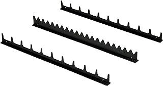 Ernst Manufacturing Screwdriver Rail Set with Magnetic Backing, 20 Tool, Black