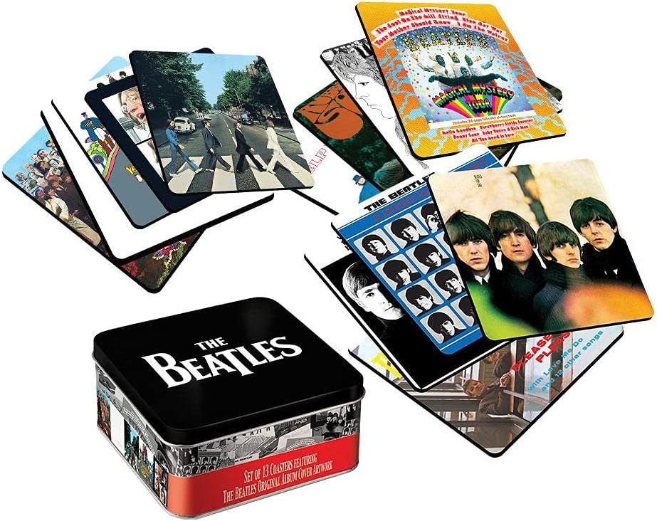 Ranking TOP16 The Beatles Album outlet Cover 13 pc. with Storage Coaster Set Box Tin