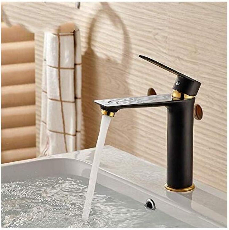 Modern Plated Mixer Faucet Faucet Basin Faucet Bathroom Bathroom Hot and Cold Basin Faucet Copper Painted Basin Single Hole Faucet