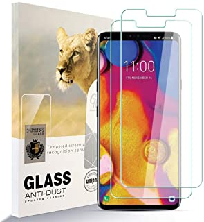 zidwzidwei skärmskydd för LG V40 THINQ [2-pack] HD härdat glas film anti-fingeravtryck bubbla fri lätt att installera, 35H...