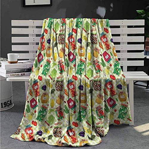 Nat Abra keuken pluche weven deken voedsel glazen potten op tafel Huishoudelijke deken