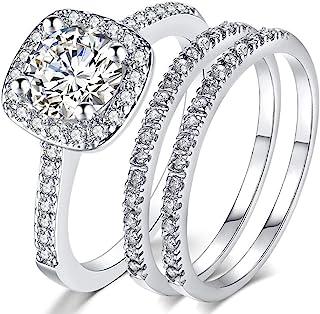 ست حلقه حلقه عروسی نامزدی عروسی سه در یک عروسی جواهرات جود