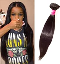 """Virgin REMY STRAIGHT Brazilian Bundle Hair Virgin Hair Weave Extension Weft Track GREAT DEAL 100 Human Hair GUARANTEED or Beautiful Natural Black Color -10"""""""