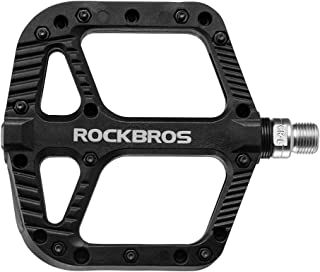 ROCK BROS Mountain Bike Pedals Nylon Composite Bearing 9/16
