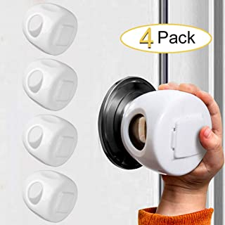 Door Knob Safety Covers Child Proof Door Knob Locks, for Baby, Toddler and Kids(4 Pack)