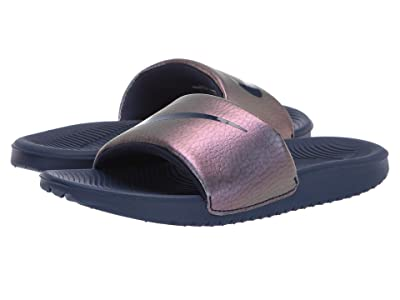 Nike Kids Kawa Slide (Little Kid/Big Kid) (Midnight Navy/Midnight Navy) Girls Shoes