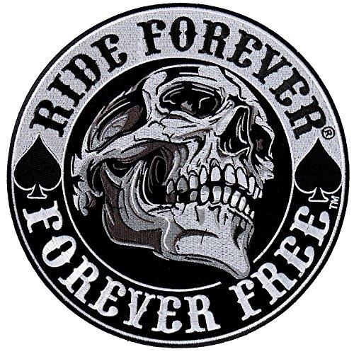 Parche escudo escudo calavera Ride Forever tamaño pequeño