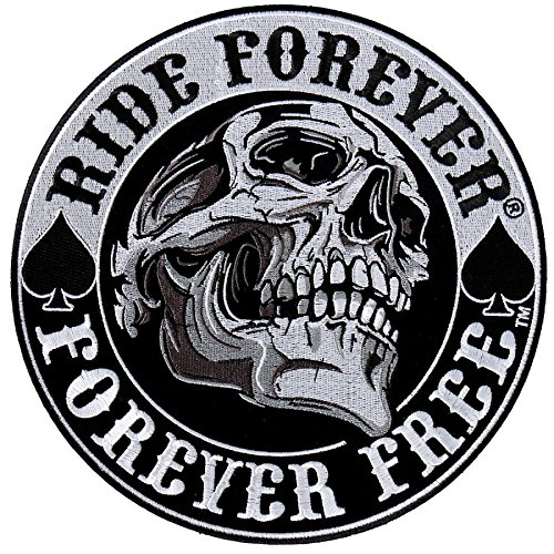 Patch escudo escudo Skull Ride Forever pequeño formato
