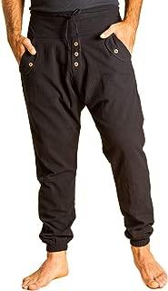 PANASIAM Yogipants, Bequeme Hose im Aladin-Harem-Style, aus 100% freshrunk B.Wolle, Unisex für Sie & Ihn