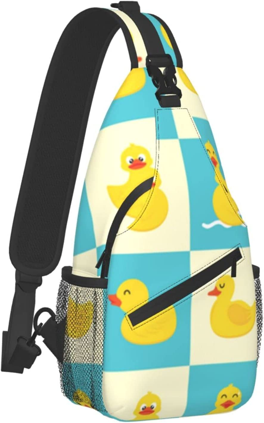 Sling Backpack Travel Hiking Daypack Rope Max 86% OFF Cros Funny Duck Award Rubber