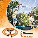 INMUA Trampolin Sprinkler, Trampolin Wasserpark Sprinkler mit biegbarem Schlauch, Drehung um 360 Grad Düse, Trampolin Spray Wasserpark Spaß Sommer OutdoorTrampolin Zubehör