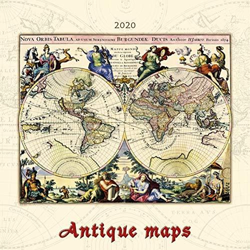 Antique Maps 2020 - antike Landkarten - Bildkalender (42 x 42) - Geschichte - historische Karten - Wandkalender