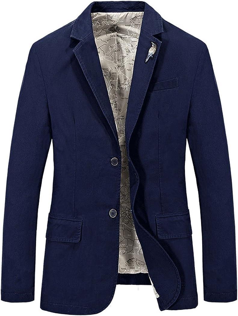 Modern Fantasy Men's Casual Suit Corduroy Collar Button Sale item Jacket 2 Save money