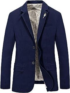 Goorape Men's 2 Button Suit with Sparrow Lapel Pins Slim Fit Casual Blazer Jacket