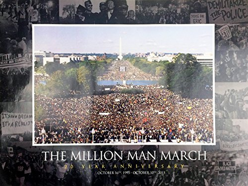 777 Tri-Seven Entertainment Million Man March Poster 20 Year Anniversary Wall Print, 24' x 18'