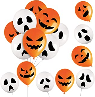 96 Pieces Halloween Ghost and Pumpkin Balloons Ghost and Pumpkin Latex Balloons Halloween Ghost Balloons Halloween Pumpkin...