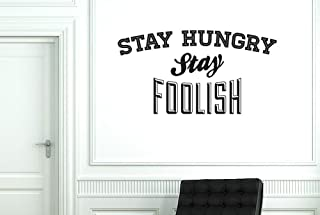 CUT IT OUT Stay Hungry Stay Foolish Wall Stickers and Art Decals - Large (Height 55cm x Width 104cm) Shiny Gold