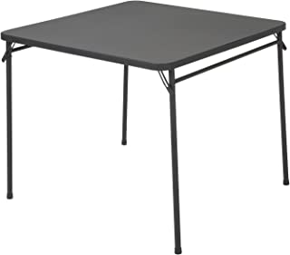 Best cosco products 34 square resin top folding table black Reviews