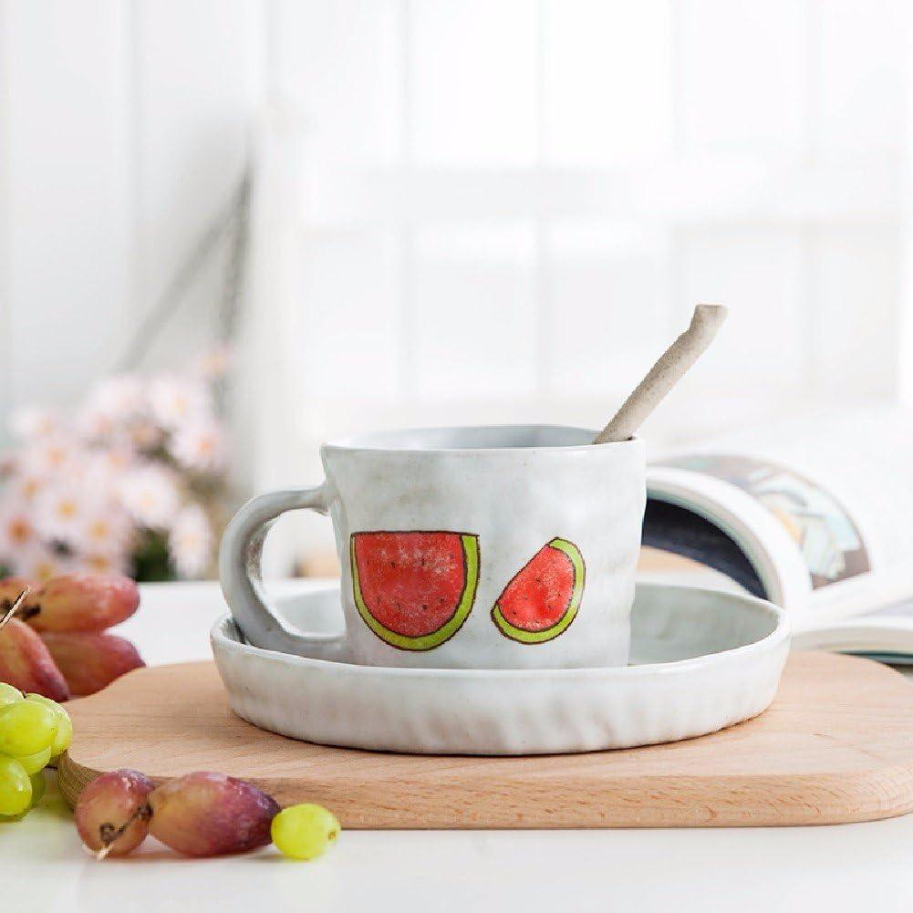 security Manufacturer OFFicial shop HQLCX Japanese Creative Mug Bowl Cartoon Spoon Coffe Set Ceramic