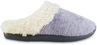 isotoner Women's Microsuede Sage Hoodback Slippers - Ash Chenille