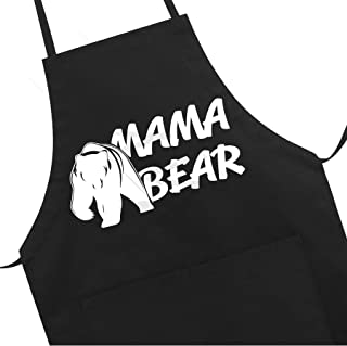 Grill Aprons Kitchen Funny Apron Chef Bib, Professional for BBQ Baking, Cooking for Men Women (Mama Bear)