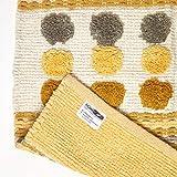 Homescapes moderner Chenille Teppich Läufer grau senfgelb 66 x 200 cm Circles & Stripes Küchenläufer - 2