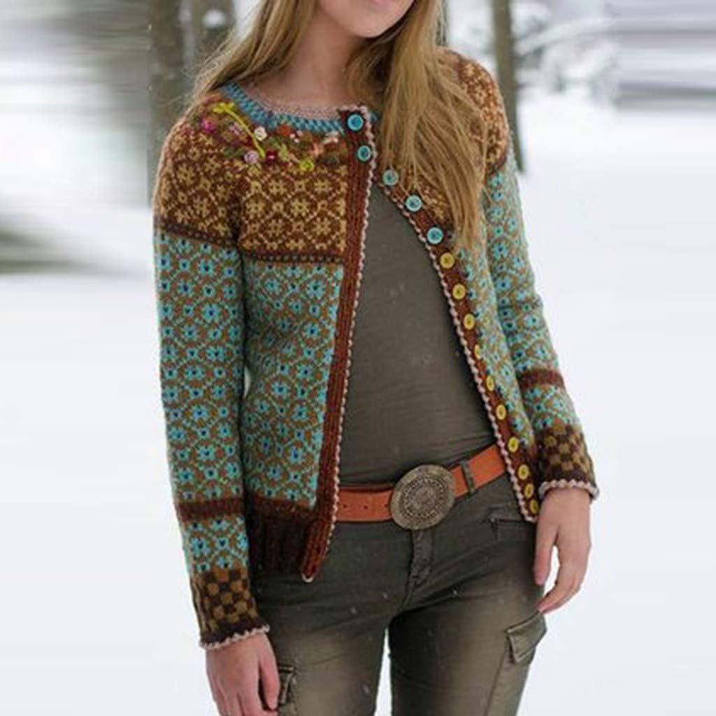KaloryWee 2020 Frühling Damen Retro Strickjacke Dünnschnitt Knopf Spitzenkante Europäische Frau Einzigartig Langarm Mantel S-5XL Mehrfachauswahl Khaki
