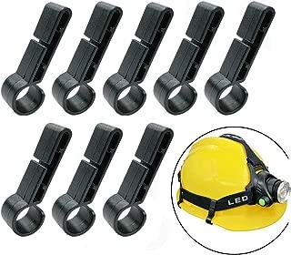 8 Pack Helmet Clips for Headlamp,Headlamp Hook, Easily Mount Headlamp on Narrow-Edged Helmet,Hardhat, Safety Cap