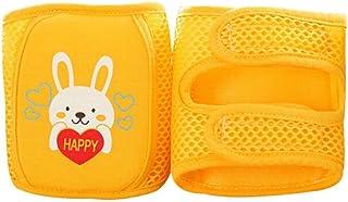 Heoolstranger, 1 par de rodilleras para bebé, transpirables y antideslizantes, ajustables, para gatear, para niños y niñas, 0 – 5 años