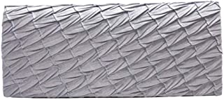 ZZZ Aa LCHENGJIN Women's clutch Bags Wallet Envelope Pleated Satin Multi-Function Shoulder Bag Evening Bag Hand Bag For Banquet Party fashion (Color : Silver)