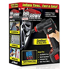 Automatic Cordless Tire Inflator Digital LED Tire Gauge Inflates in 90 Seconds or Less! Automatically Shuts Off When Inflated Built-in LED Light