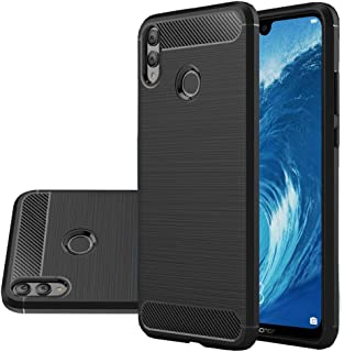 Honor 8X Max Case, Vinve [Slim Thin] Carbon Fiber TPU Shock Absorption Anti-Scratches Flexible Soft Protective Case Cover for Huawei Honor 8X Max Black