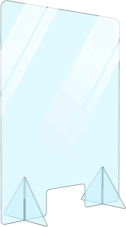 Free 送料無料激安祭 Standing 蔵 Portable Acrylic Protective Des Plexiglass Divider