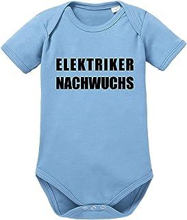 clothinx Elektriker Nachwuchs | Eine schöne Geschenk-Idee für alle Handwerker die Ihren Nachwuchs mit Hochspannung Erwartet haben Baby-Body Bio