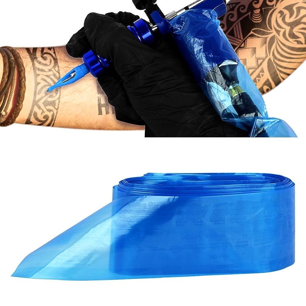 スカープ違反矩形ATOMUS タトゥークリップカバー バッグ タトゥ コード スリーブバッグ タトゥーマシンのため 使い捨て ブルー 100PCS