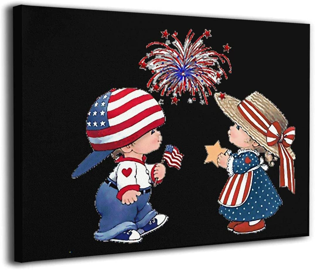 Ahuahua Couple America Flag Frameless for Adults Painting Ranking TOP18 Max 80% OFF W Kids
